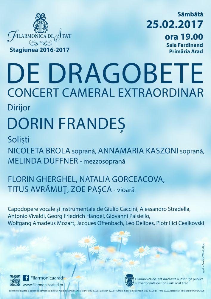 Concert cameral extraordinar în Sala Ferdinand, de Dragobete