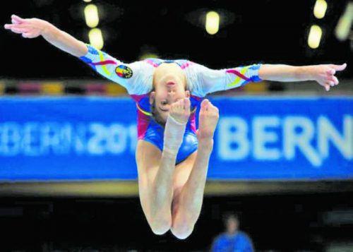 Olivia Cîmpian, prezenţă graţioasă la Europenele de gimnastică