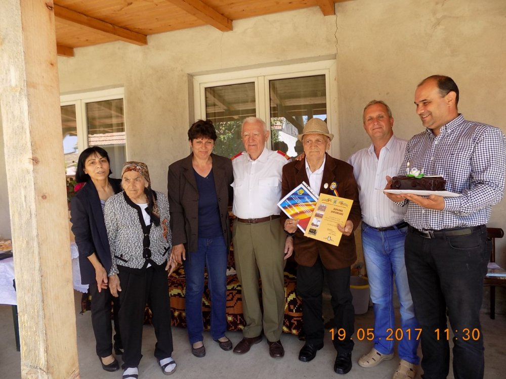 Sublocotenentul arădean Toader Gergely, veteran de război, sărbătorit la 101 ani
