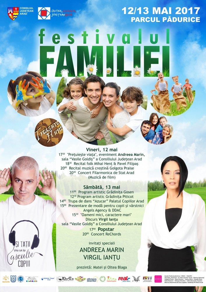 Începe Festivalul Familiei la Arad. Vezi programul complet
