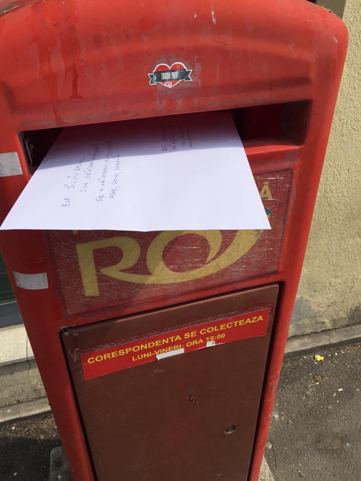 Scrisoare inedită, primită de Falcă. Un arădean i-a trimis gunoiul pe care nu-l putea arunca în coş