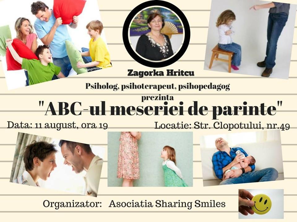 Workshop în sprijinul părinților care doresc să-și îmbunătățească relația cu copiii