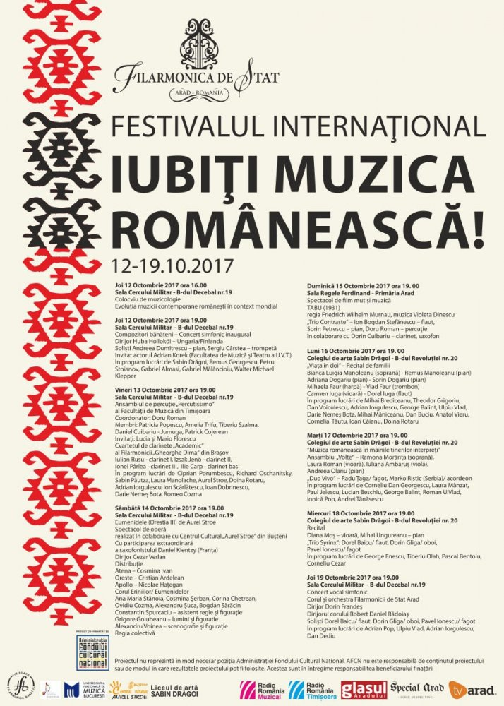 """Experiențe de neratat, la Festivalul Internațional """"Iubiți Muzica Românească """""""