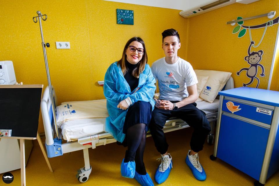 Man se alătură strângerii de fonduri pentru copiii bolnavi