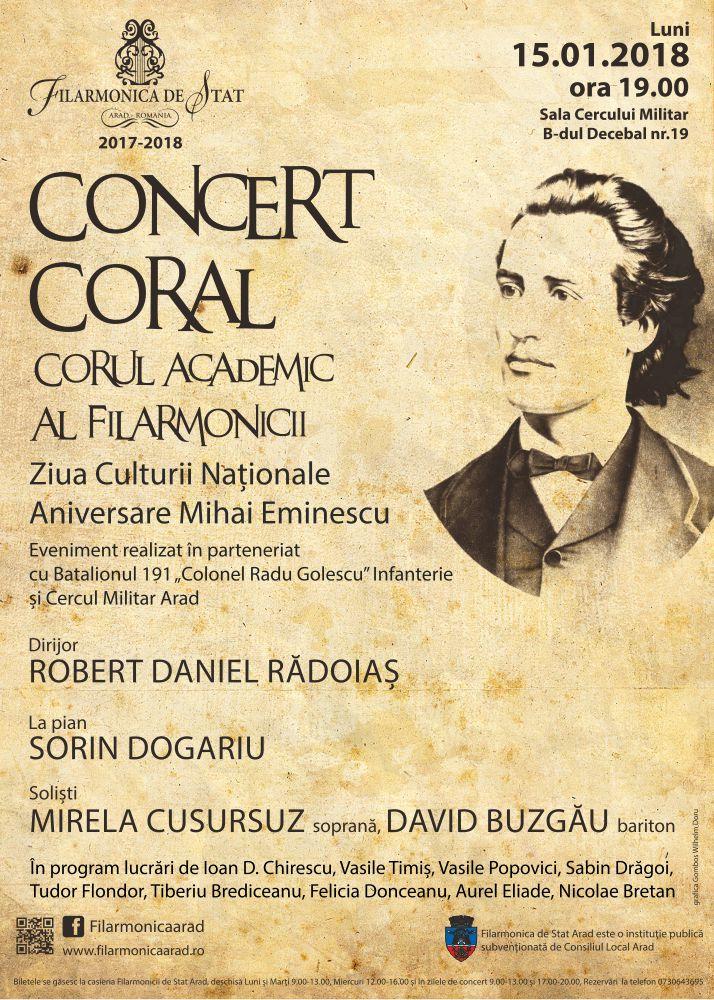 Ziua Culturii Naționale, sărbătorită la Filarmonica de Stat din Arad