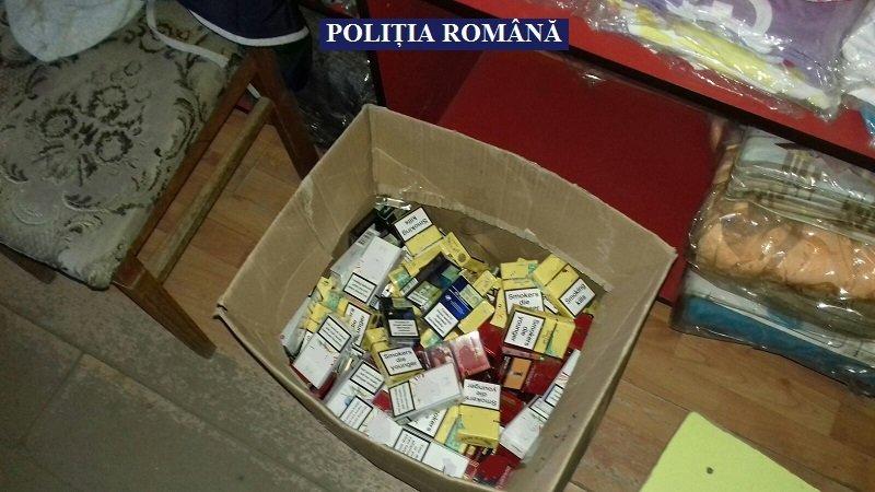Polițiștii din Sebiș au confiscat peste 9.000 de țigarete de contrabandă