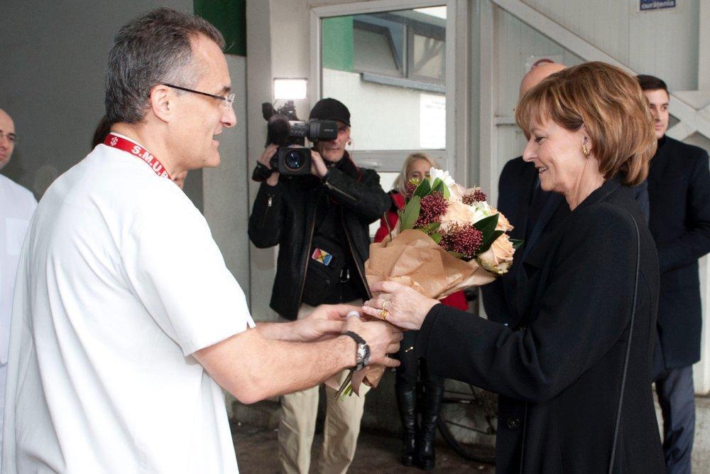 Vizită regală la Spitalul Floreasca, înființat la inițiativa Reginei-mamă Elena