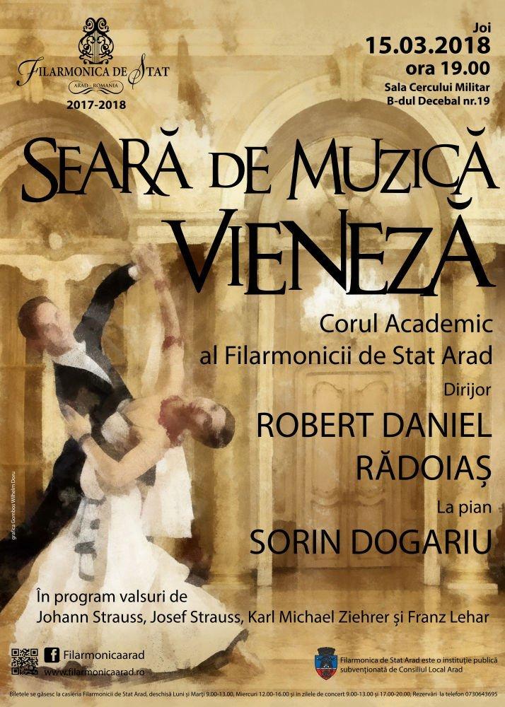 Seară de muzică vieneză, la filarmonica arădeană