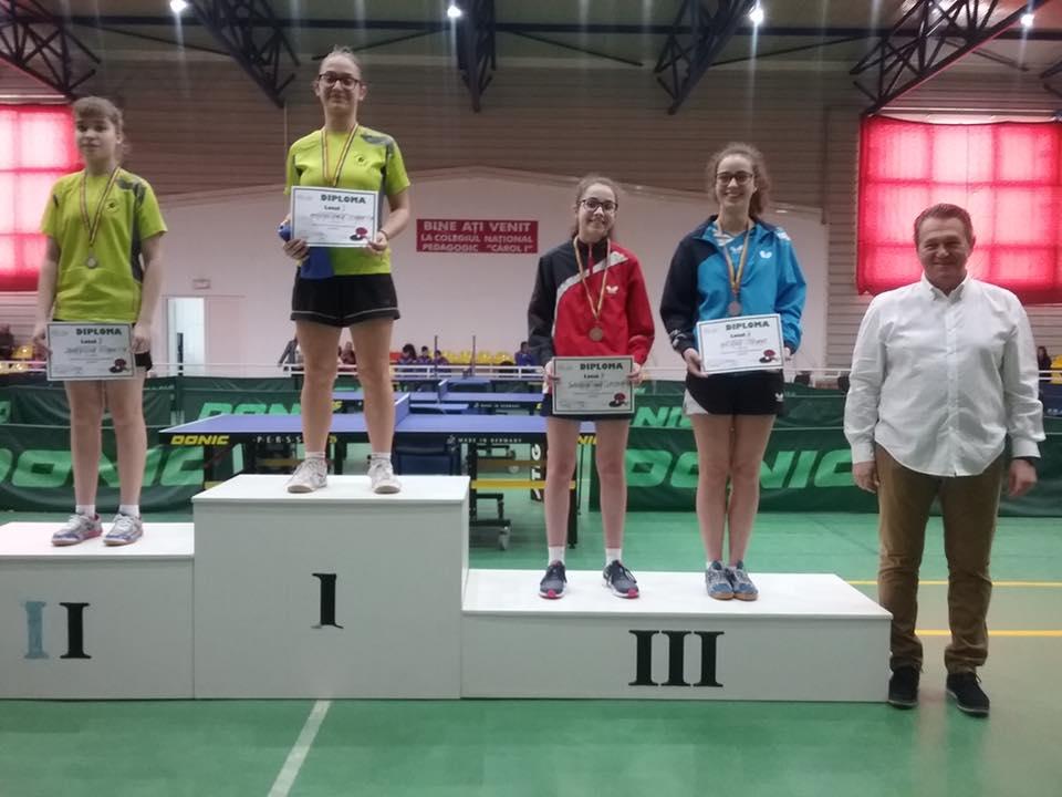 Irina Rus a cucerit bronzul naţional la tenis de masă