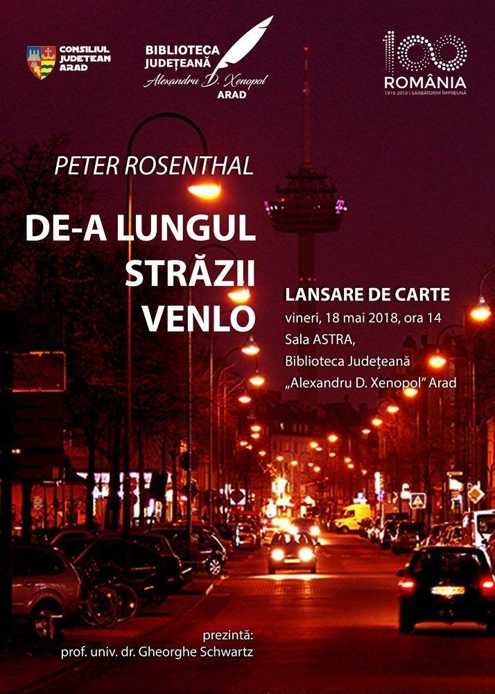 """Călătorind """"De-a lungul străzii Venlo"""". Lansare de carte la Biblioteca Județeană"""