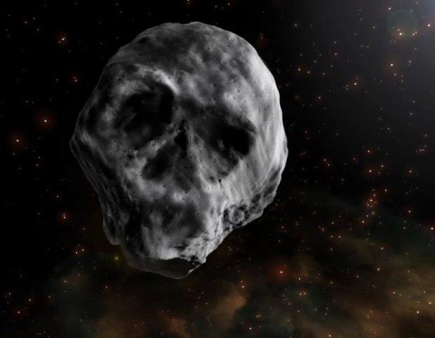 """Un asteroid cu """"cap de craniu"""" se îndreaptă către Pământ"""