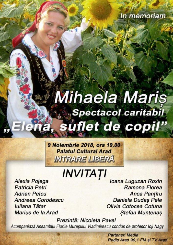 In memoriam, Mihaela Mariș! Concert caritabil, suflet și aduceri aminte