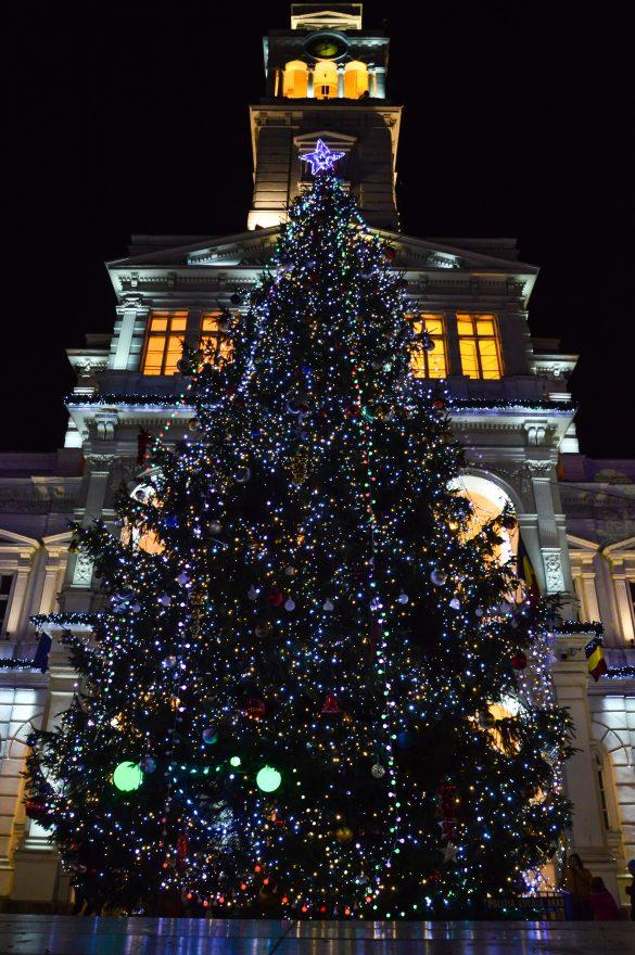 S-au aprins luminiţele din pomul de Crăciun