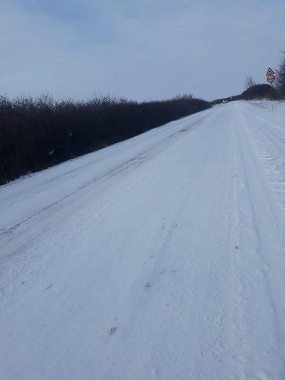 (FOTO) CJA a deschis prima pârtie de schi, pe DJ 794! Liber la săniuș pe drumurile județene