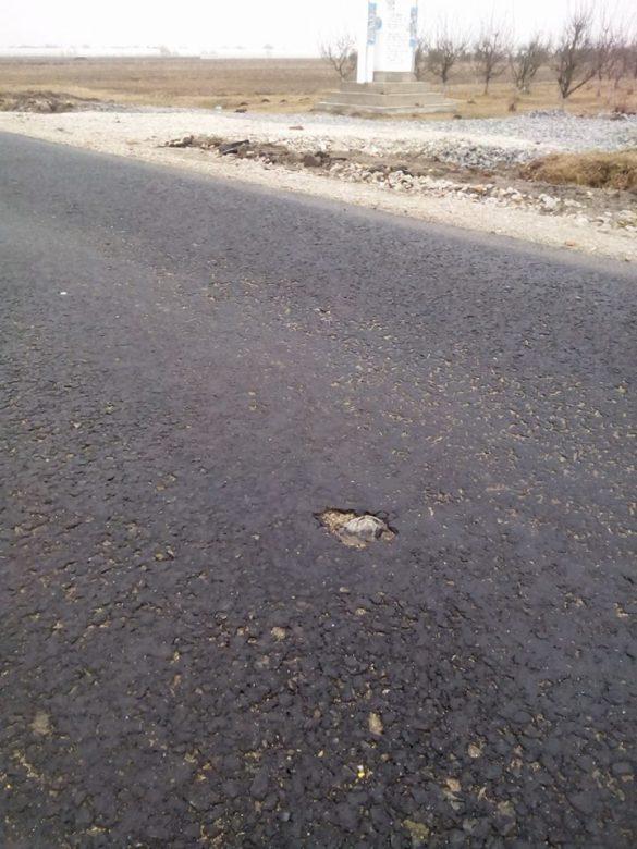 (FOTO) Drumul Pâncota-Seleuș e praf ! 9,5 milioane de lei pentru o lucrare de mântuială