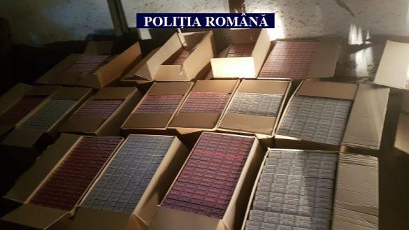 Polițiștii au descoperit un depozit de țigări de contrabandă, pe 6 Vânători. Captura se apropie de un milion de euro