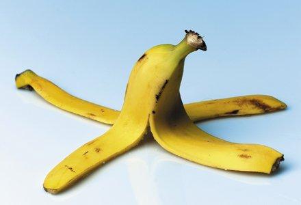 Coaja de banana pentru riduri